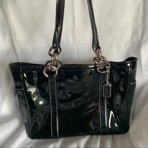 COACH Black Patent Leather Satchel